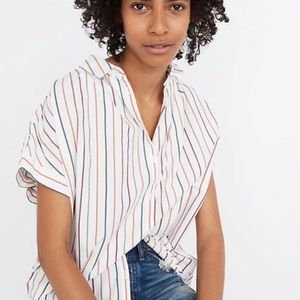 Madewell stripe central shirt size XS